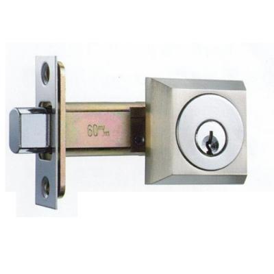 LS L-5-SN 日規輔助鎖 60mm 銀色 三鑰匙 日式 方型 房門鎖 通道鎖 客廳鎖