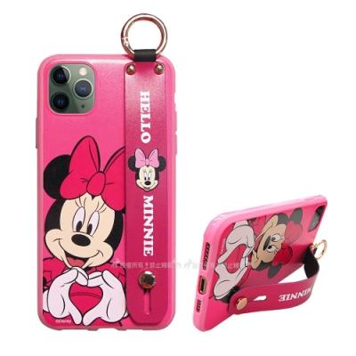 迪士尼授權 iPhone 11 Pro Max 6.5吋腕帶立架保護殼 支架手機殼(米妮)