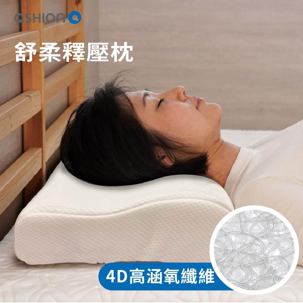 (開館慶買一送一)QSHION 舒柔釋壓水洗工學枕  W32xL58xH10-H8cm