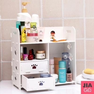 JIAGO DIY化妝品桌面抽屜收納盒