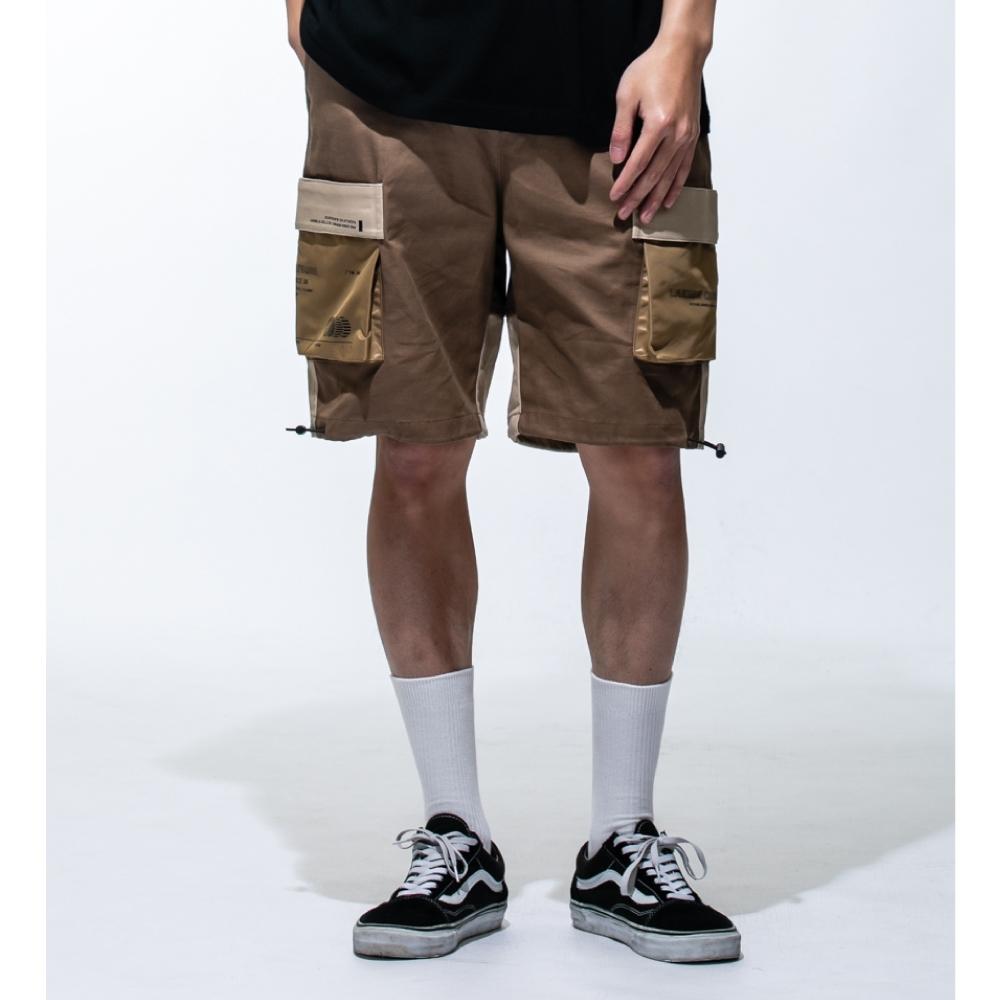 LAKING六口袋三色拼接工作短褲 product image 1