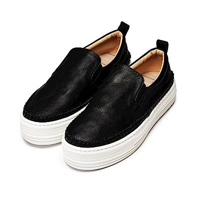 BuyGlasses 名媛休閒厚底增高休閒鞋-黑