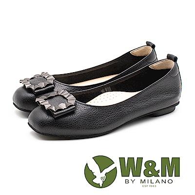 W&M (女)凝結直紋海浪娃娃鞋-黑(另有米)