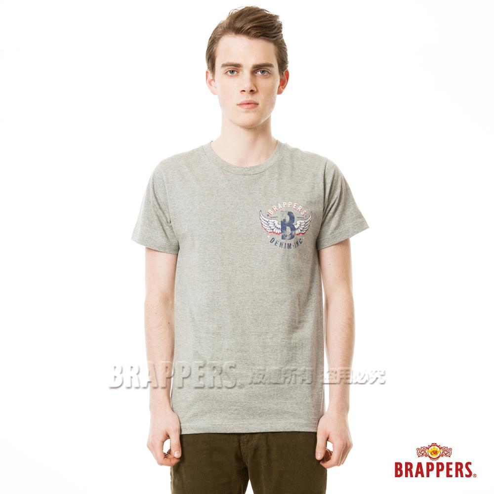 BRAPPERS 男款 日本製小翅膀印花短袖T恤- 灰