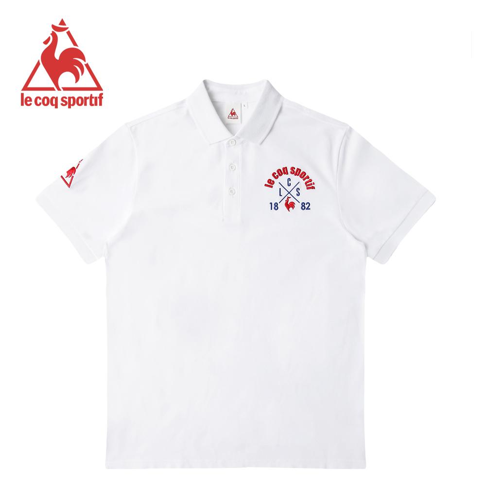 le coq sportif 法國公雞牌短袖POLO衫 男-白