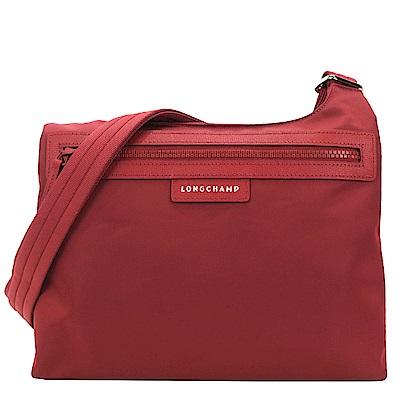 LONGCHAMP PLIAGE NEO 厚尼龍前口袋拉鍊斜肩背包(紅色)