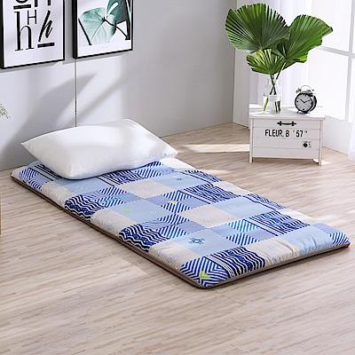 LAMINA  雅蓆兩用床墊-藍色水波5cm (雙人)