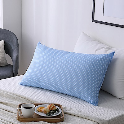 LAMINA 透氣水洗枕(水玉點點-藍)-1入