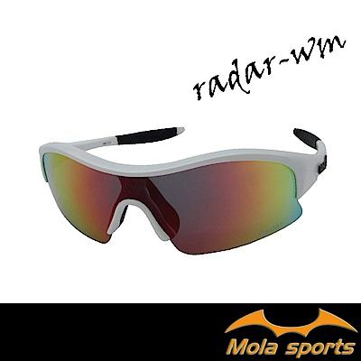Mola摩拉運動太陽眼鏡 彩色多層膜鏡片 UV400 Radar-wm 小臉至中 男女
