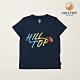 【hilltop山頂鳥】童款吸濕快乾抗UV彈性Polygiene抗菌T恤S04C14高貴藍 product thumbnail 1