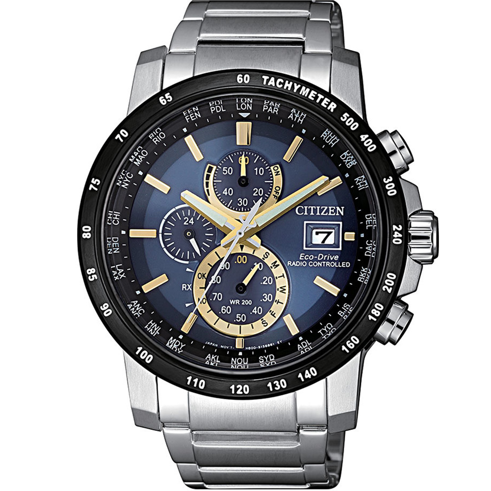 CITIZEN Eco-Drive 極光時尚電波錶(AT8124-83M)43mm