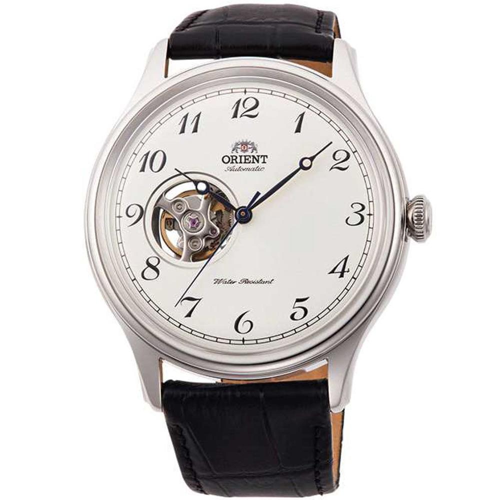 ORIENT東方錶 簡白經典鏤空自動機械錶(RA-AG0014S10B)-白x43mm