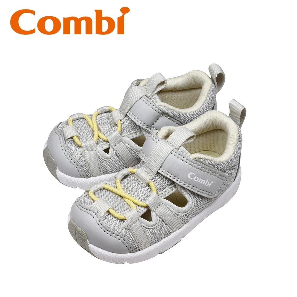 日本Combi童鞋 太空漫步幼兒機能涼鞋-銀河灰