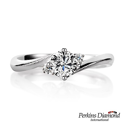 PERKINS 伯金仕-GIA Princess系列 0.30克拉鑽石戒指