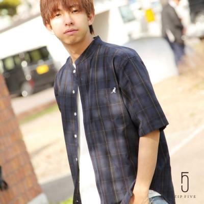 ZIP日本男裝 KANGOL短袖立領襯衫(12色)