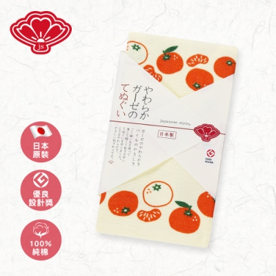 【日纖】日本泉州純棉長巾-橙黃蜜柑 34x90cm
