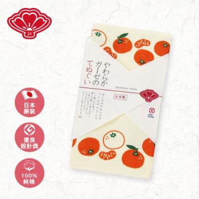 【日纖】日本製純棉長巾-橙黃蜜柑 34x90cm