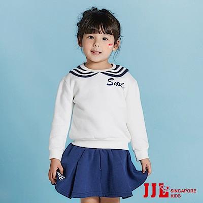 JJLKIDS 甜心水手內刷毛套裝(藏青)