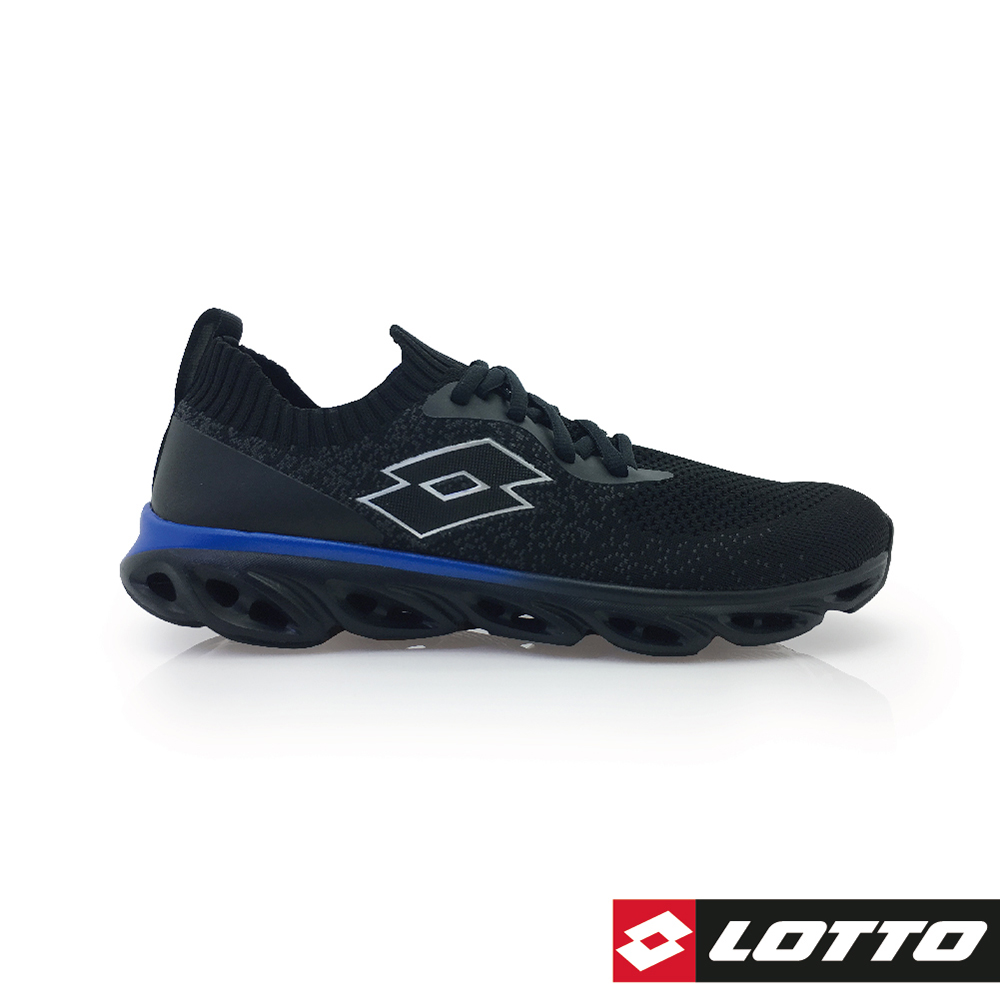 LOTTO 義大利 男 X Speed 編織風動跑鞋 (黑)