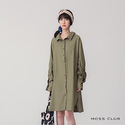 【MOSS CLUB】長版造型袖-襯衫(共二色)