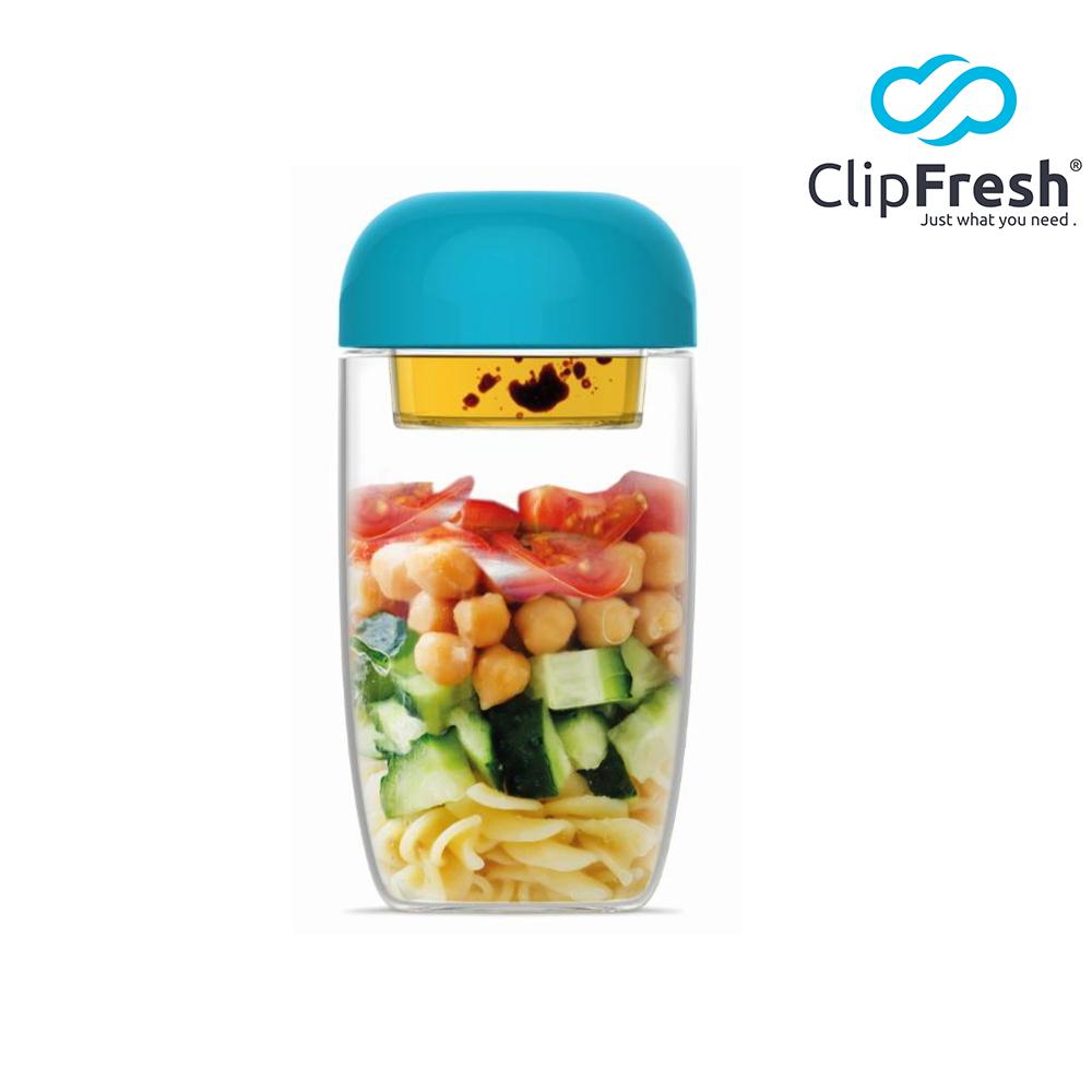 CLIP FRESH 樂搖嗑鮮沙拉杯660ML(藍)(快)