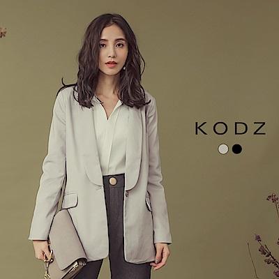 東京著衣-KODZ 洗鍊質感翻領俐落西裝外套-S.M.L(共二色)