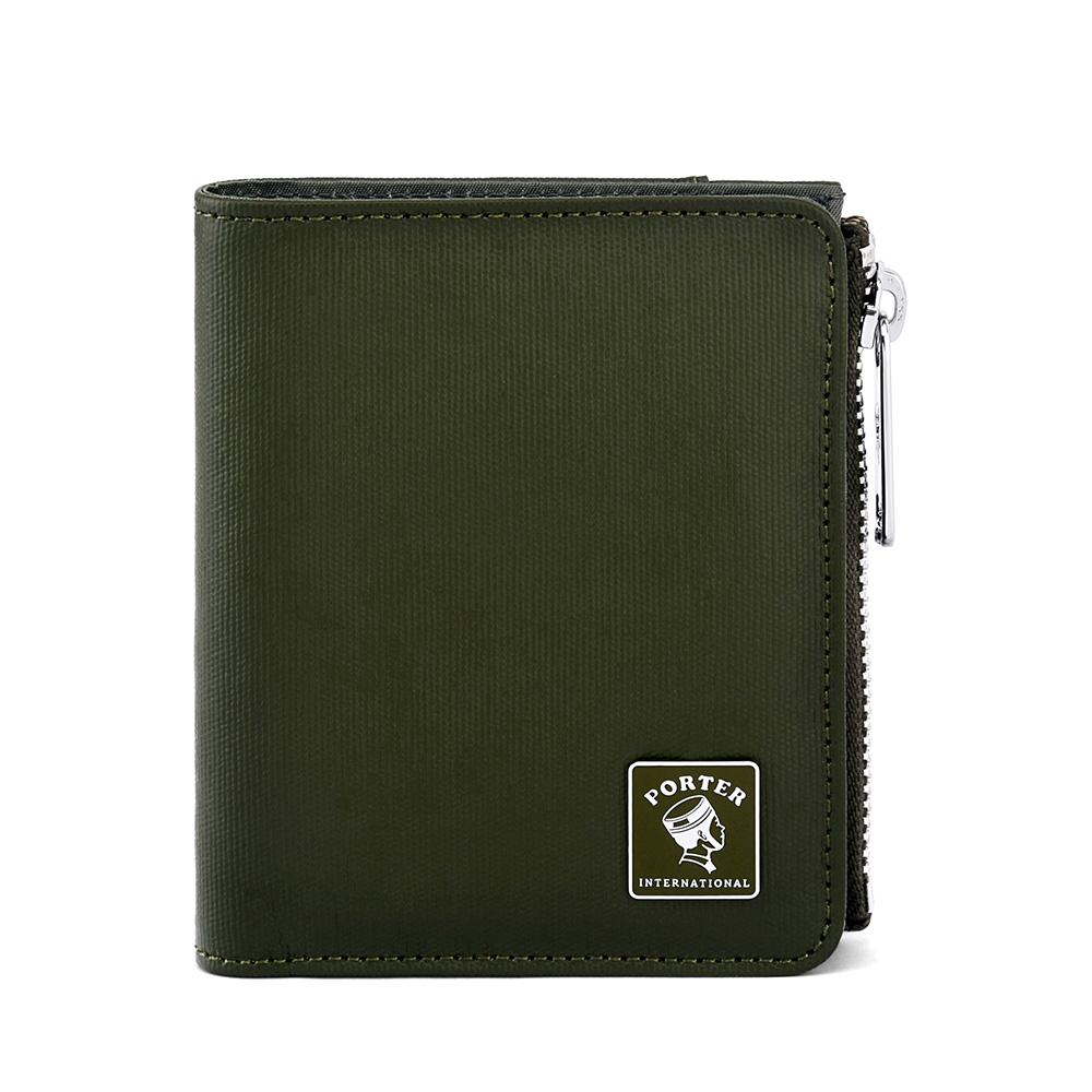 PORTER - 復刻新作MILKY+直式零錢皮夾 - 灰綠