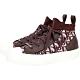 Dior Oblique Walk'n' 科技針織拼接頂級小牛皮中筒帆布鞋(深莧紅/37號) product thumbnail 1