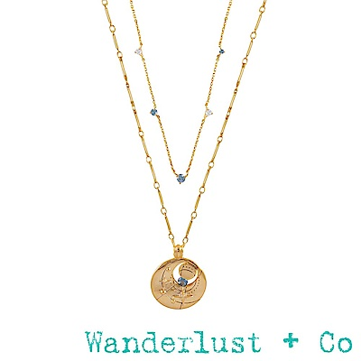 Wanderlust + Co 生日石系列 三月項鍊