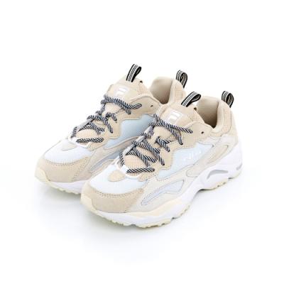 FILA RAY TRACER 中性慢跑鞋-米色 1-C606T-166