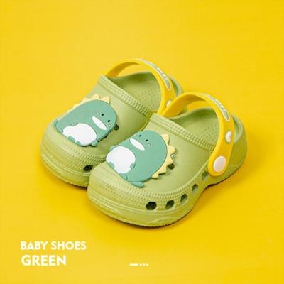 Cheerful Mario 洞洞涼鞋-動物款-恐龍綠