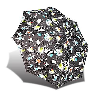 RAINSTORY 叢林嘉年華 抗UV自動開直骨傘