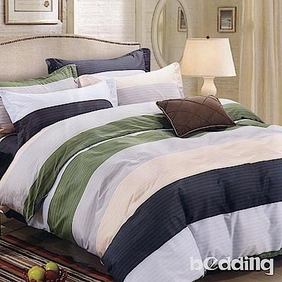 BEDDING-活性印染6尺雙人加大薄床包三件組-原野之戀