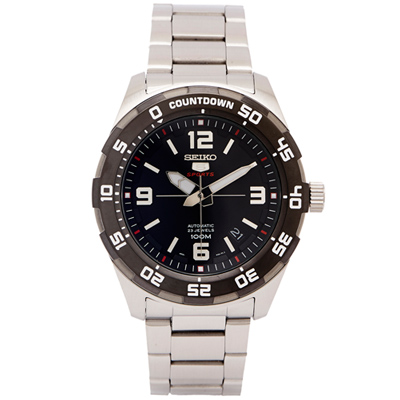 SEIKO  SPORTS系列五號機芯機械手錶(SRPB81K1)-黑面/44mm