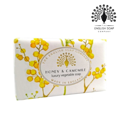 The English Soap Company 乳木果油復古香氛皂-蜂蜜洋甘菊 Honey & Camomile 190g