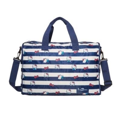 【Hello Kitty】摺疊旅行袋-深藍 FPKT0B001NY
