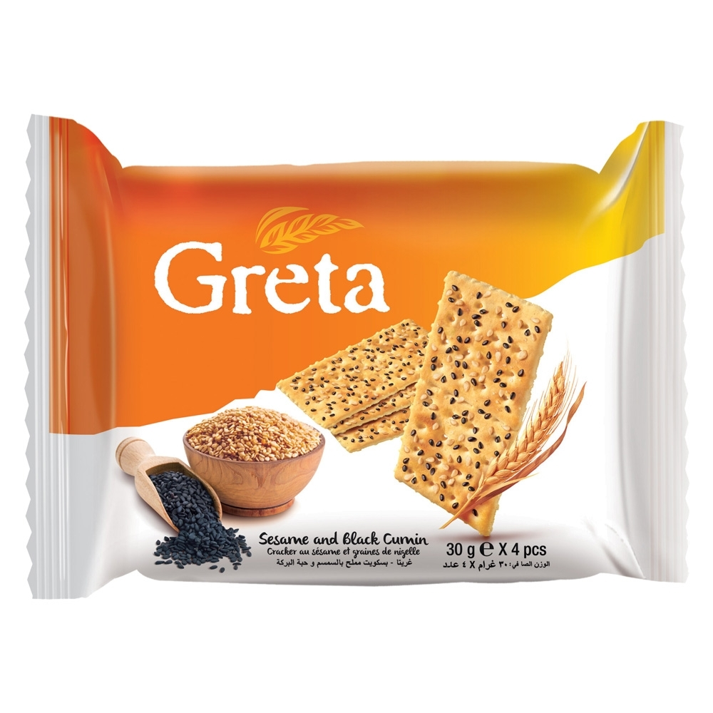 GRETA 芝麻&黑種草籽風味餅乾(120g)