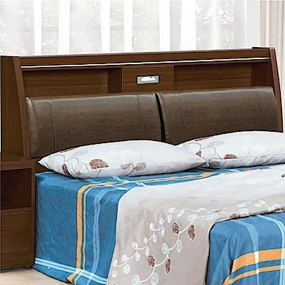 綠活居 麥文時尚5尺皮革雙人床頭箱(不含床底)-152x31x107cm免組