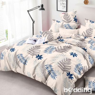 BEDDING-頂級法蘭絨-加大雙人床包被套四件組-多款任選