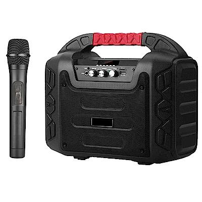 大聲公樂福型無線式多功能行動音箱/喇叭 (單手持麥克風組)