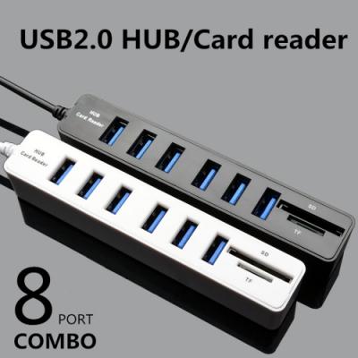 USB擴展器 HUB分線器 六合一 讀卡器 多功能擴展插座