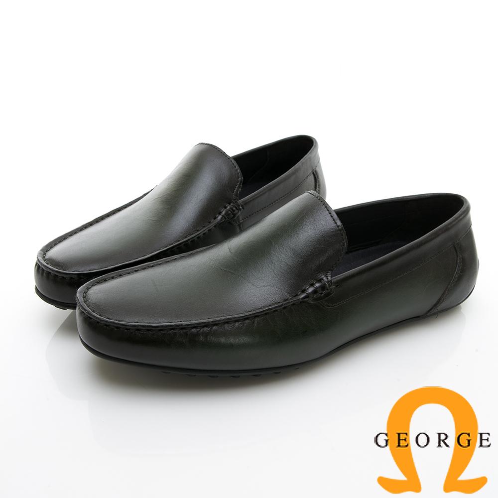 【Amber】舒適時尚  舒適直套式休閒鞋-綠色