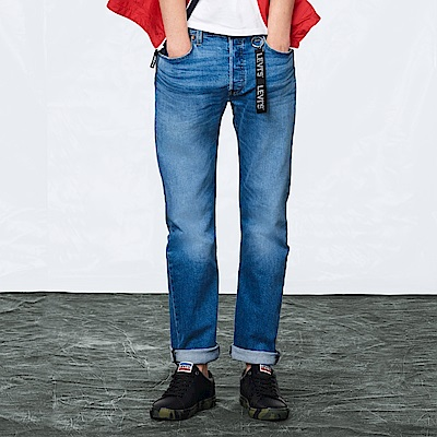 Levis 男款 513 修身直筒牛仔褲 淺藍基本款 彈性布料