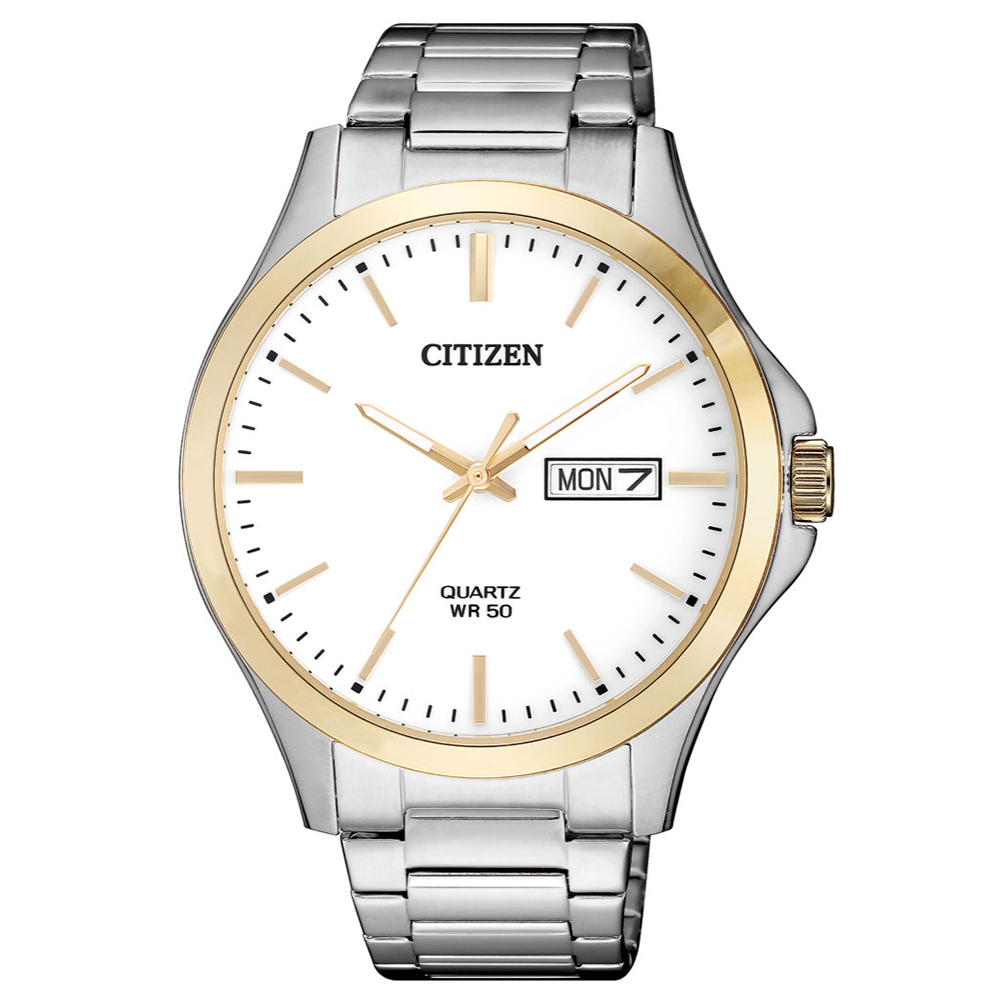 CITIZEN 首席男爵夜光石英腕錶(BF2006-86A)-白x40.5mm