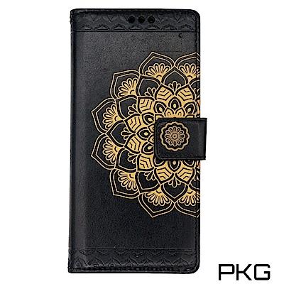 PKG SAMSUNG Note8 抗震防摔保護套(精緻圖騰側翻系列)-黑