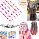 韓版懶人編髮神器 電話線綁辮子髮飾 可愛綁頭髮帶 親子兒童通用6入 顏色任選 Kiret product thumbnail 1