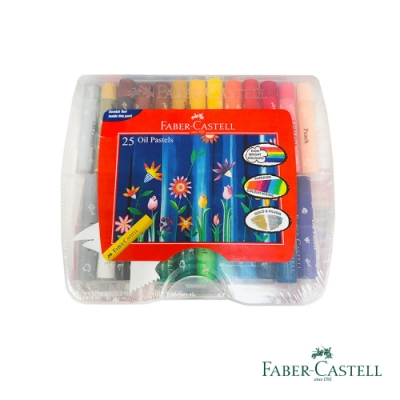 Faber-Castell 紅色系 25色粗芯精裝油性粉彩條