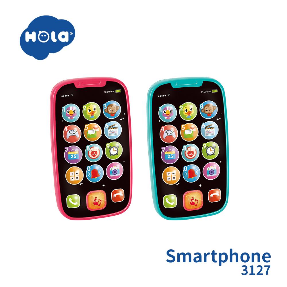 香港HOLA幼兒聲光玩具-智慧型手機(兩色可選) 3127