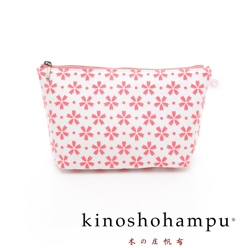 kinoshohampu 貴族和柄帆布化妝包 櫻花粉