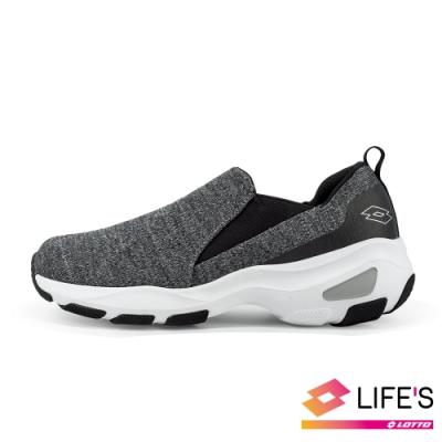 LOTTO 義大利 女 EASY WEAR 厚底美型輕便鞋 (深灰)